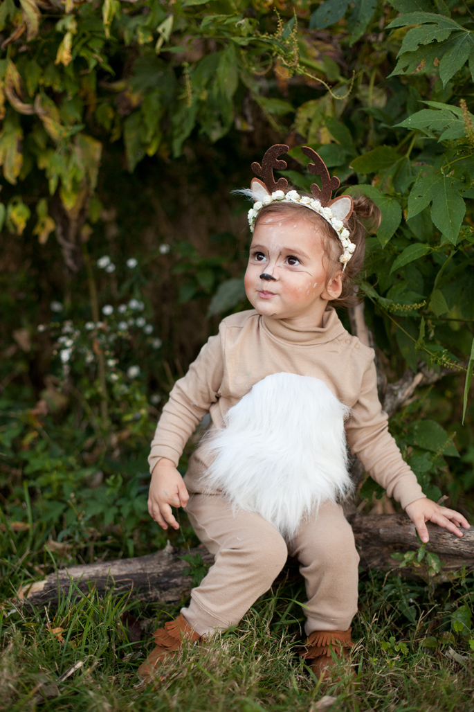 diy toddler deer antlers inexpensive costume flower crown  sc 1 st  blushing rubies & DIY Toddler Deer Antlers and Costume | blushing rubies