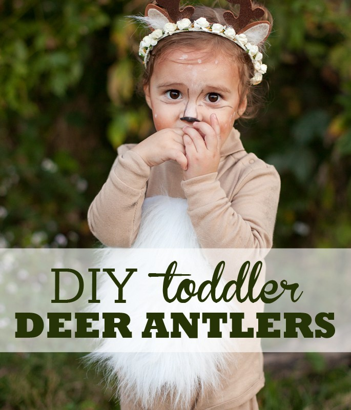 Learn how to create a darling flower crown antler headband for your baby or toddler.