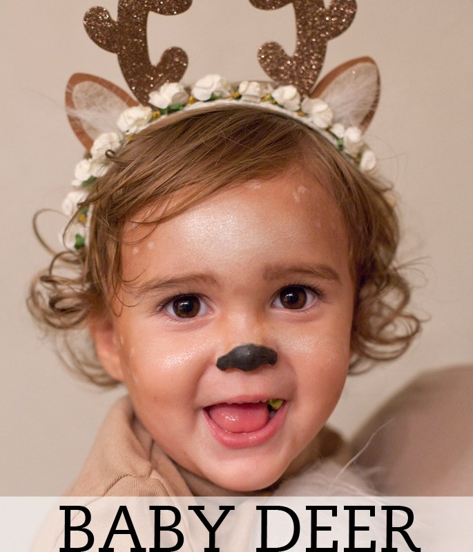 Baby deer Halloween makeup tutorial. Watch now!