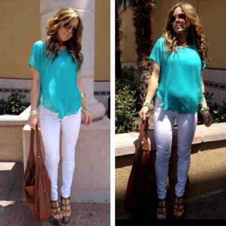 Maternity Outfit, Maternity Fashion, Pregnancy, White Denim, Teal Shirt