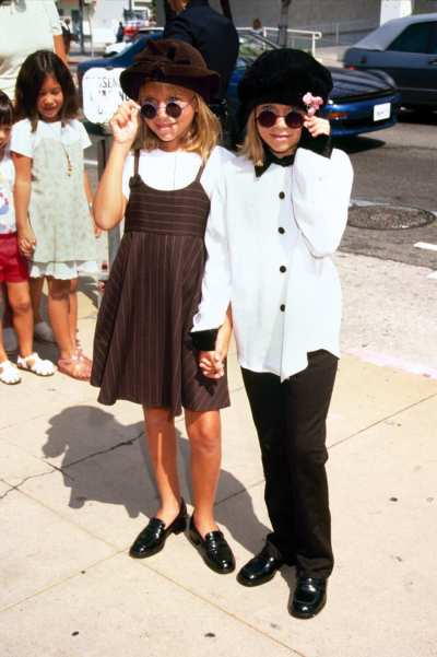 Michelle and Ashley Olsen throwback look