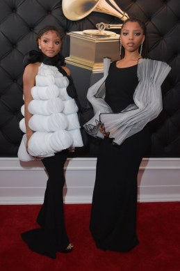 Chloe X Halle at the Grammys