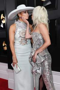 Lady Gaga and JLo at the Grammys