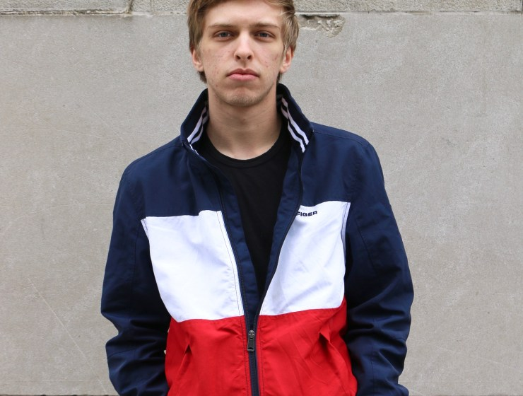 photo of FIT student, James Giammetta, showcasing his personal street style.