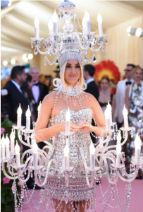 Katy Perry wearing Moschino to the Met Gala