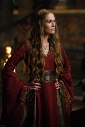 Cercei Lannister in a red gown