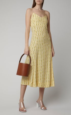 Ganni yellow sundress