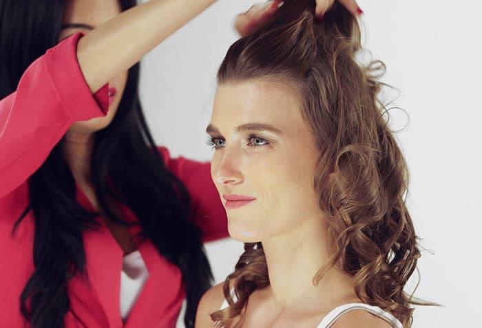 Puff Hairstyle DIY – Step By Step Tutorial 3