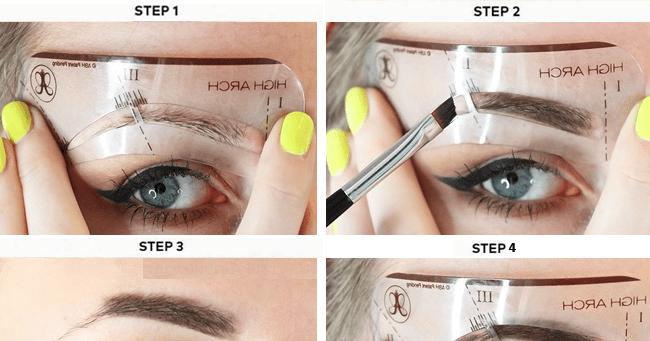 How To Use Eyebrow Stencils Like A Pro! | Blushy Babe