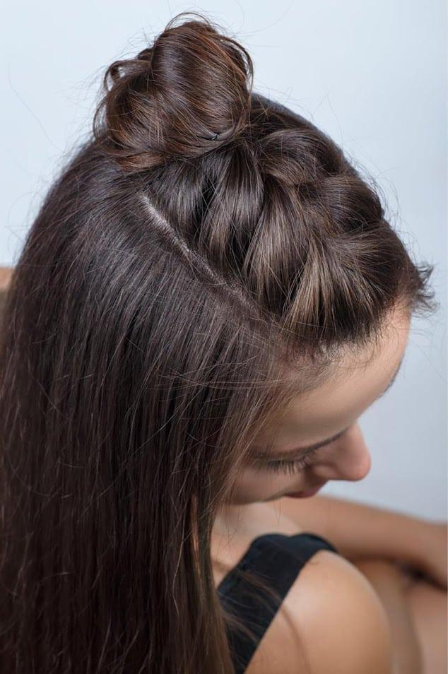 Half Bun Hairstyle Tutorial Step By Step Blushy Babe