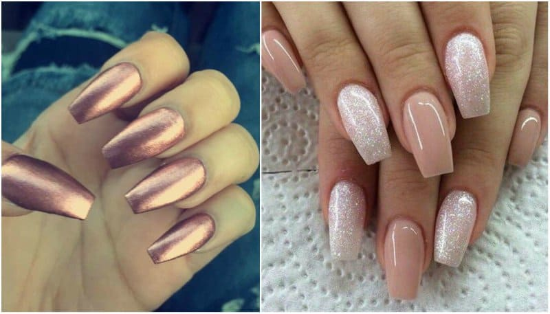 Must Try These Trendy Coffin Shaped Nails. 2