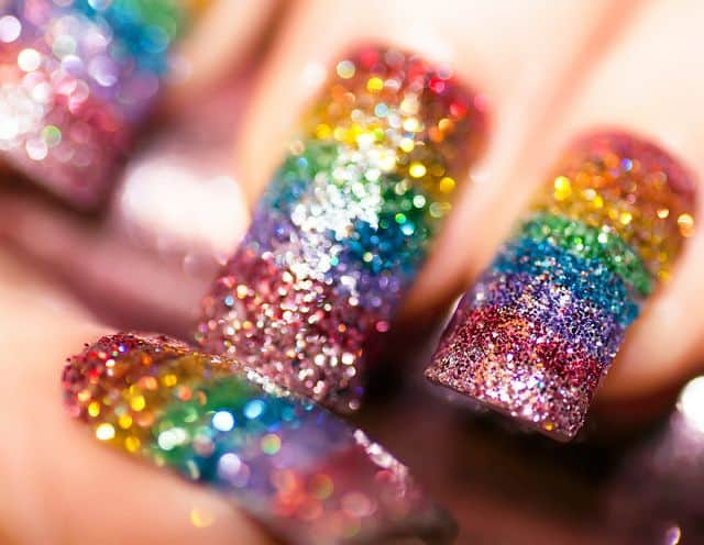 Some of the best Rainbow Nail Art Designs. 6
