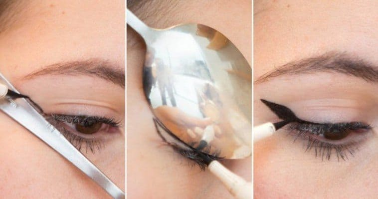 How you can use a spoon as a makeup instrument 3