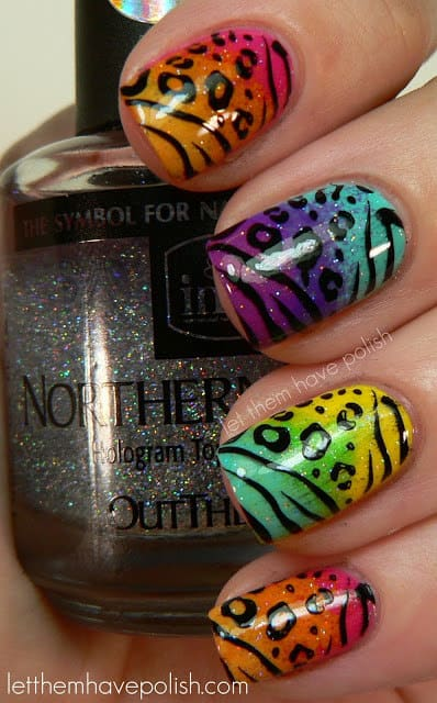 Some of the best Rainbow Nail Art Designs. 11