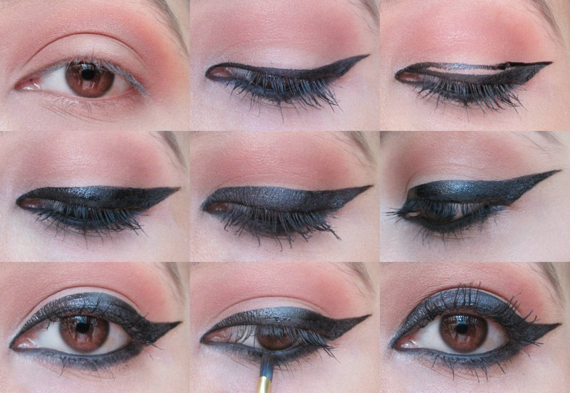 Winged Eyeliner: Step-by-step 4