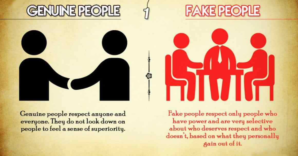 Distinguish Between Genuine And Fake People By These 8 Traits 1