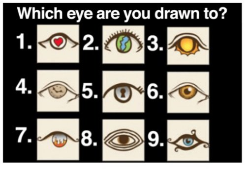Personality Test: Which eye are you drwan to? 1