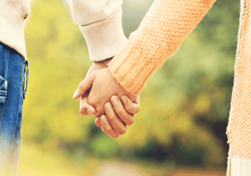 Holding hands can speak a lot about your relationship. 7