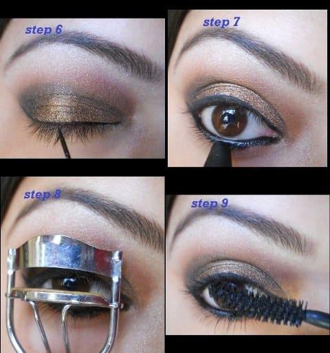copper eye makeup tutorial (7)