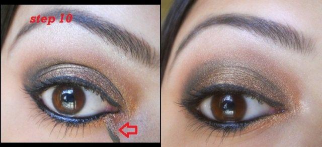 copper eye makeup tutorial (8)