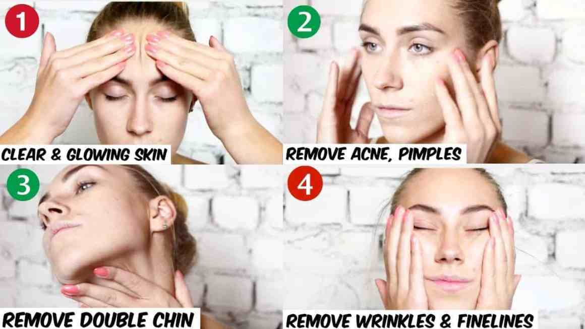 Facial massage technique to get a perfectly shaped face. 1