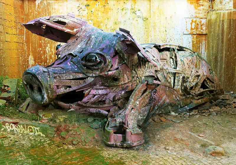 See How An Artist Turns Trash Into Animals So That It Depicts The Level Of Pollution. 5