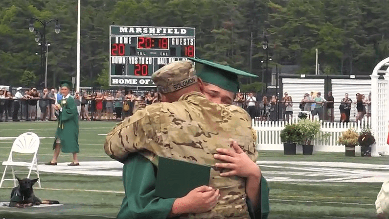 Deployed Army Sergeant Surprises His Son At His Graduation 8
