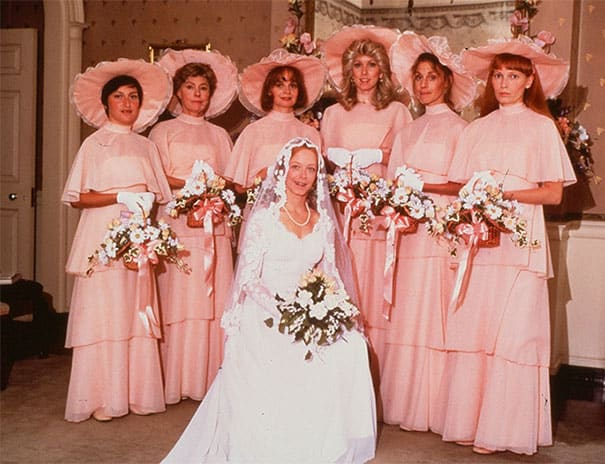 Some Of The Ridiculous Bridesmaid Dresses That Have Over Time 9