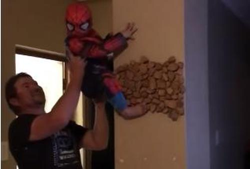 1 Cute Video Of A Small Kid Dressed As The Spider Man 2
