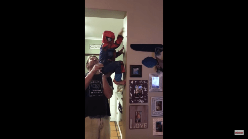 1 Cute Video Of A Small Kid Dressed As The Spider Man 6