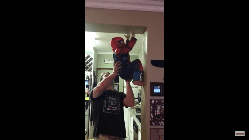 1 Cute Video Of A Small Kid Dressed As The Spider Man 7