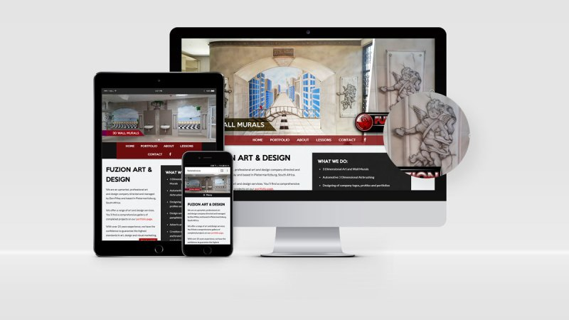 Fuzion Art & Design Web Design