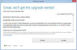 Getting the Windows 10 Upgrade started