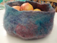 large hand dyed felt wool bowl blythwhimsies 2015-12-01 16.47.53