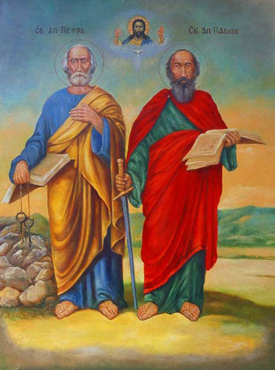 Святі первоверховні апостоли Петро і Павло