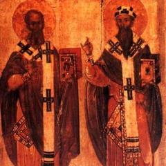 Святі Афанасій та Кирило Олександрійські