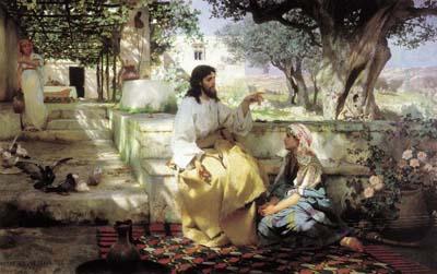 Самарянка та Ісус Христос