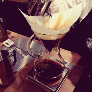 スターバックスコーヒー目黒店 電源カフェ ハンドドリップ ケメックス