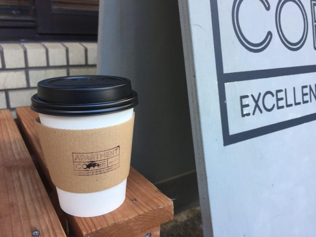 カフェ ドリンクテイクアウト カップデザイン APARTMENT COFFEE