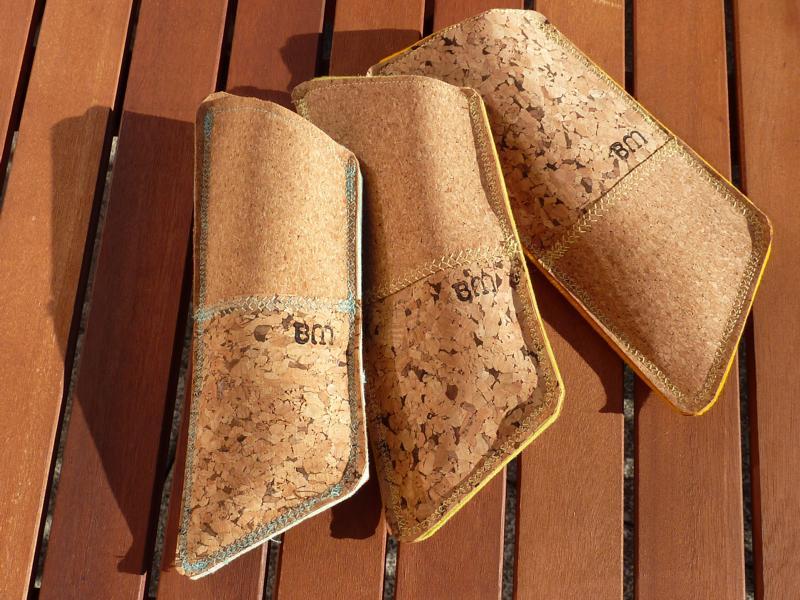 Brillenetui aus Kork mit weicher Wollfilz-Auskleidung