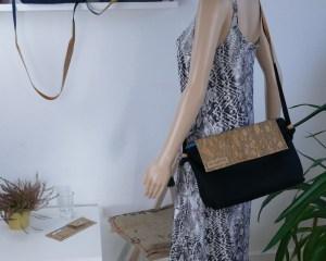 Trägerkleid für Nacht oder Tag im Inka-Style schwarz-weiß