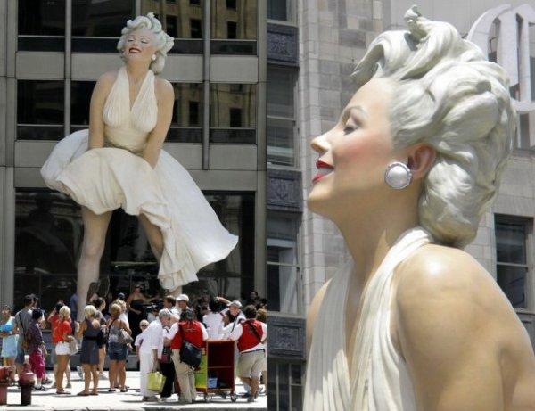 Памятник Мэрилин Монро в Чикаго - bigmir)net