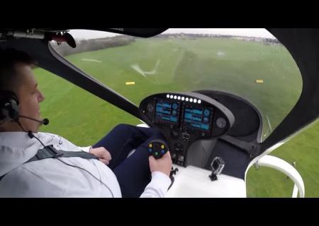 Первый полет прототипа летающего мультикоптера-такси 0:08