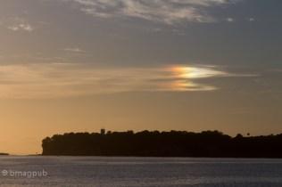 Backlit Rainbow Clouds