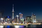 Downtown Auckland and port