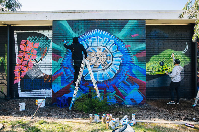 Science Meets Street Art At Co-Lab This National Science Week