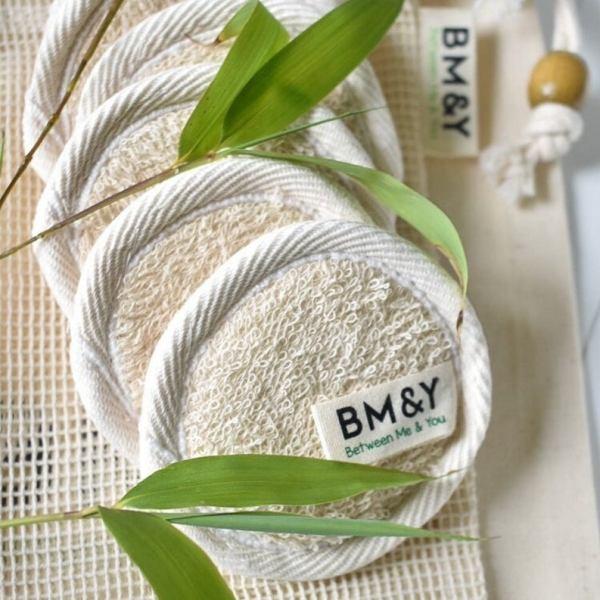 Textured bamboo cotton pads