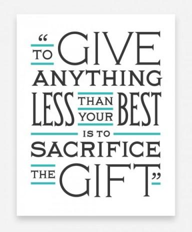 sacrifice of the gift