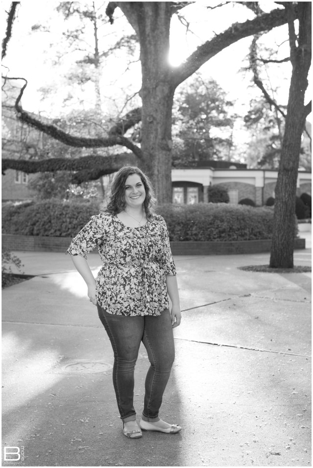 Nacogdoches photographer senior portraits of an SFA graduate on the SFA campus