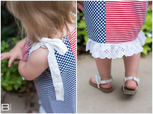Nacogdoches photographer photos of dress on toddler, completing an item on yearly bucket list